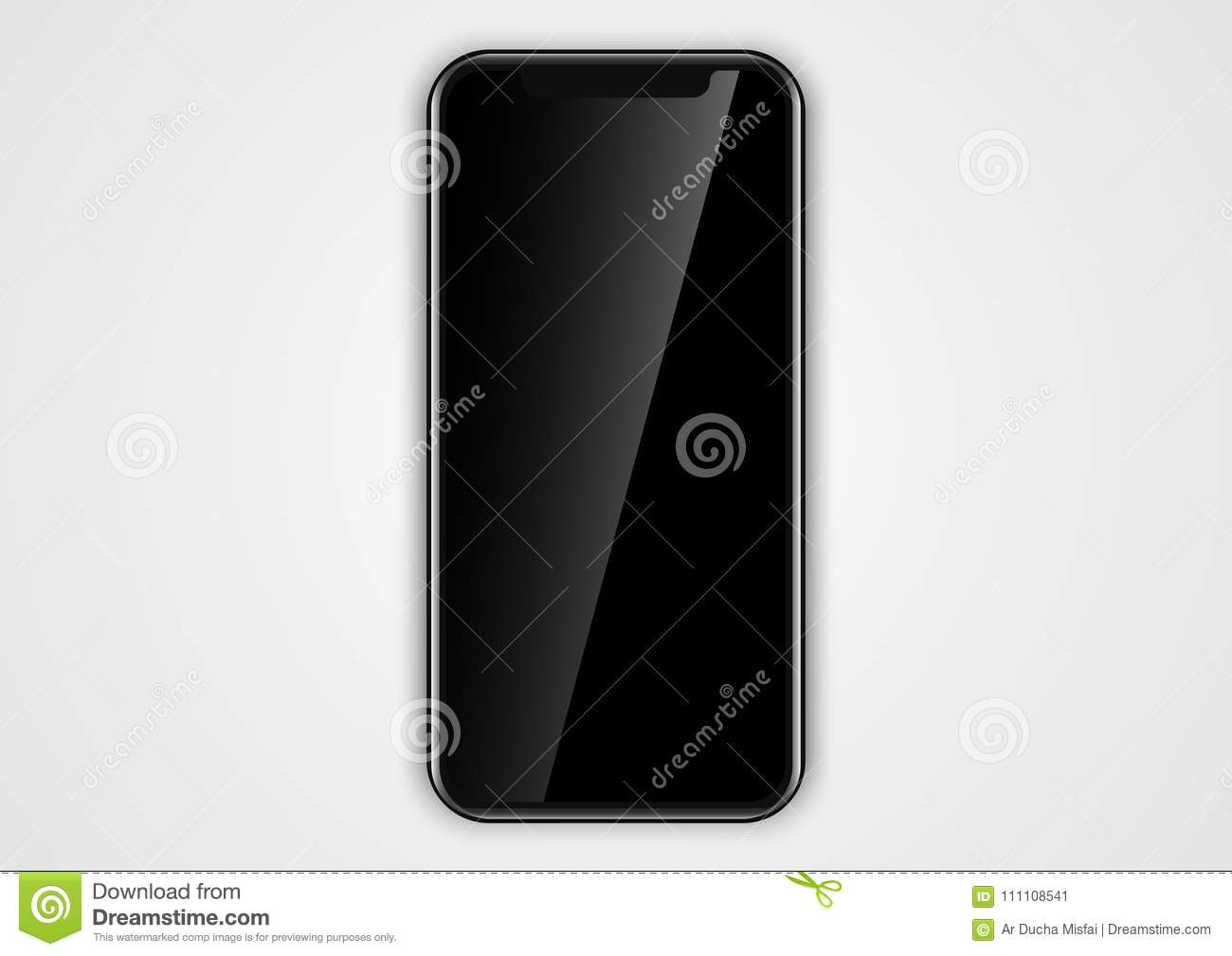 Blank Iphone Template | Blank Phone Frame Design For Template User Interface Stock Vector