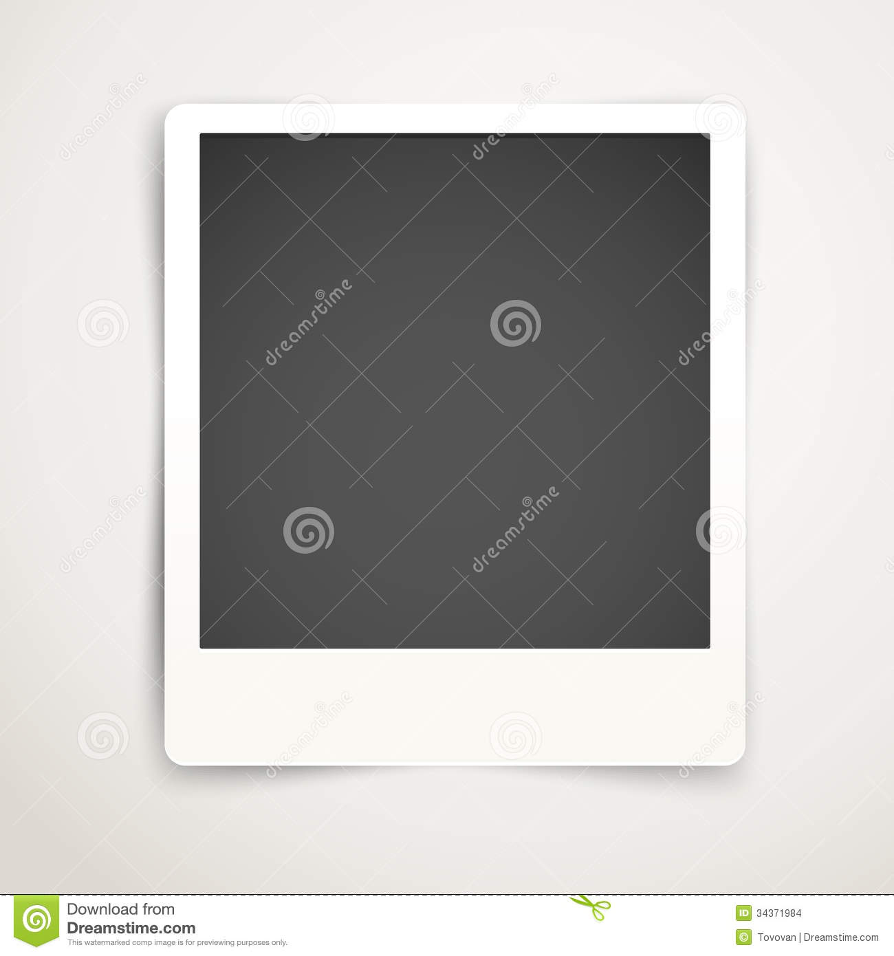 Blank Photo Frame Template Stock Images - Image: 34371984