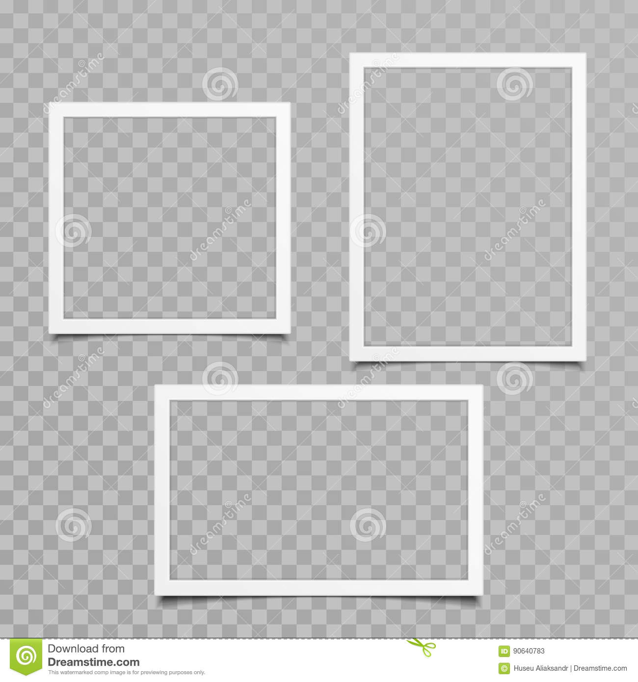 9451fe5f02 Blank Photo Frame Vector Set. Stock Vector - Illustration of empty ...