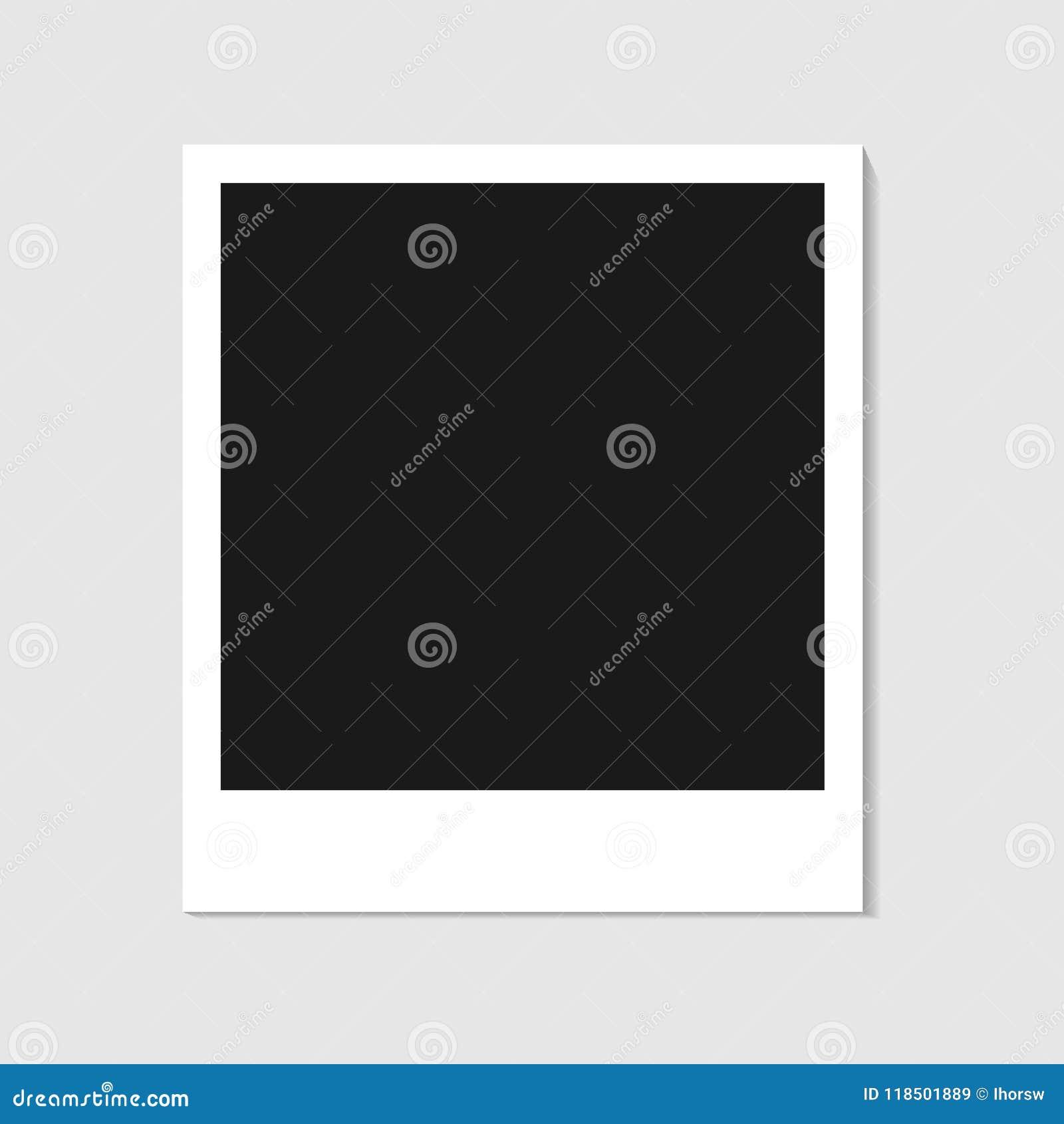 Blank Photo Polaroid Frame Isolated On White Background Shadow