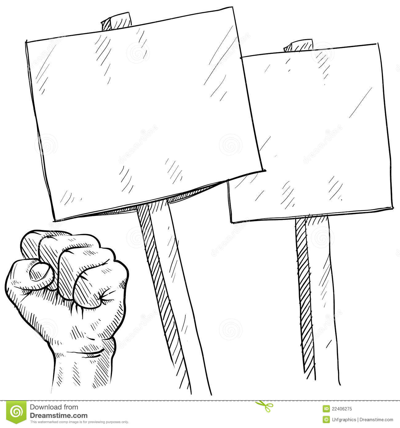 blank picket or protest signs royalty free stock photo
