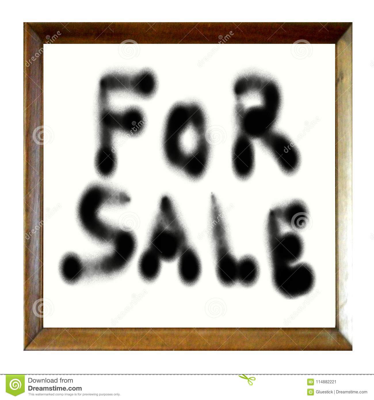blank picture frame graffiti for sale stock image illustration of