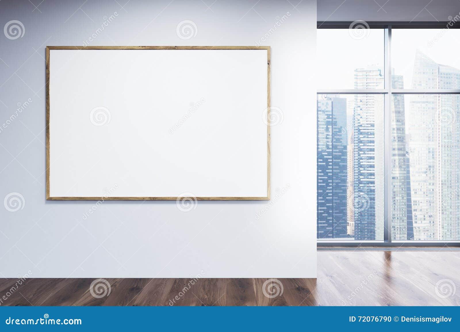 Blank Picture Frame In Room Stock Illustration - Illustration of ...