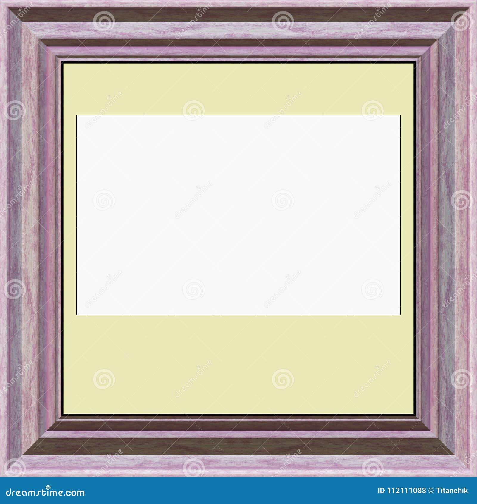 Decor Room- Blank Picture Frame Stock Illustration - Illustration of ...