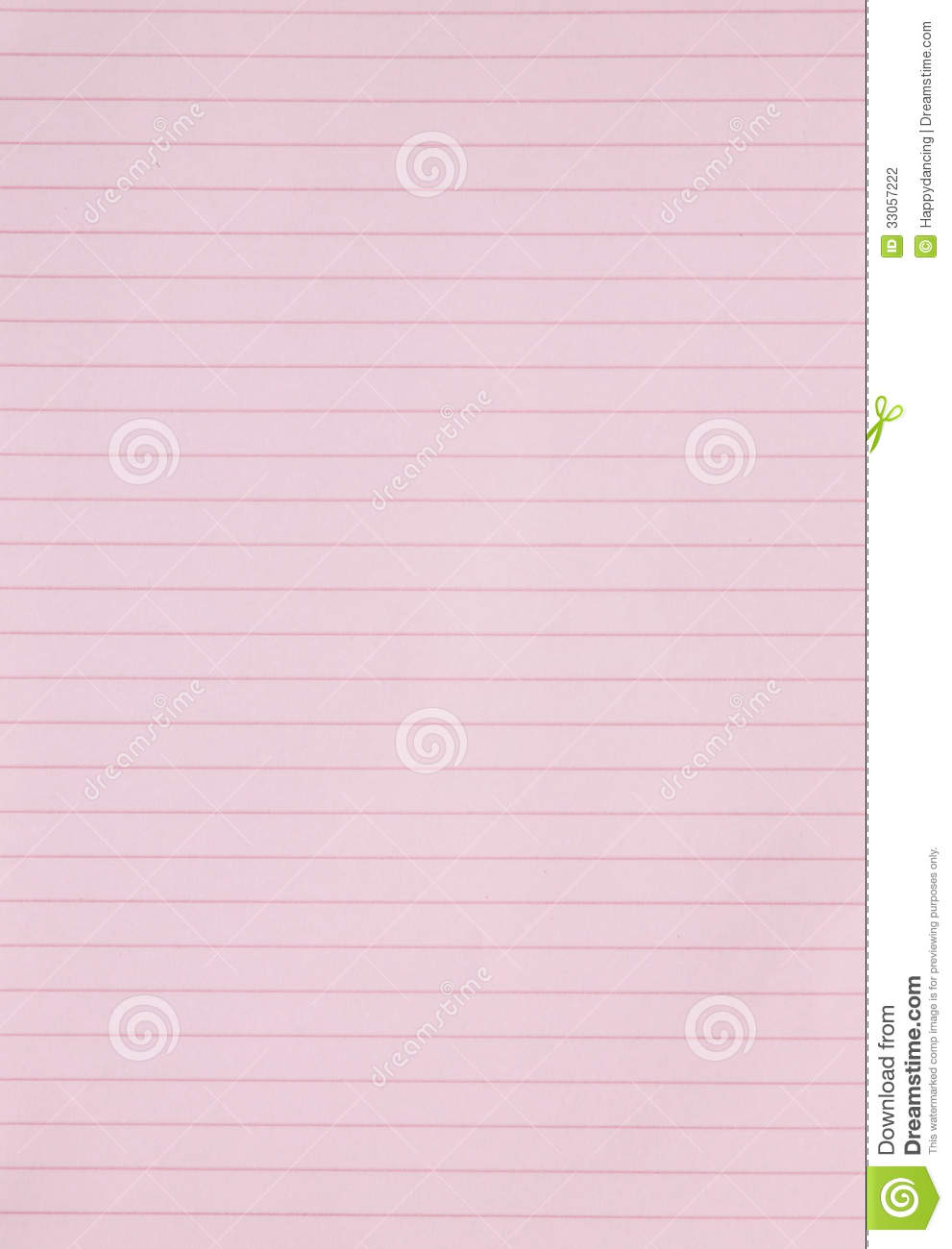Blank Pink Lined Paper...U Letter Design Wallpaper
