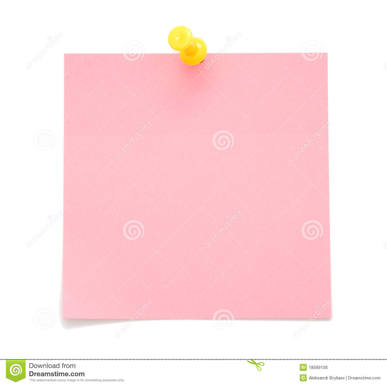 Blank Pink Post-it Note Royalty Free Stock Image - Image: 18589106