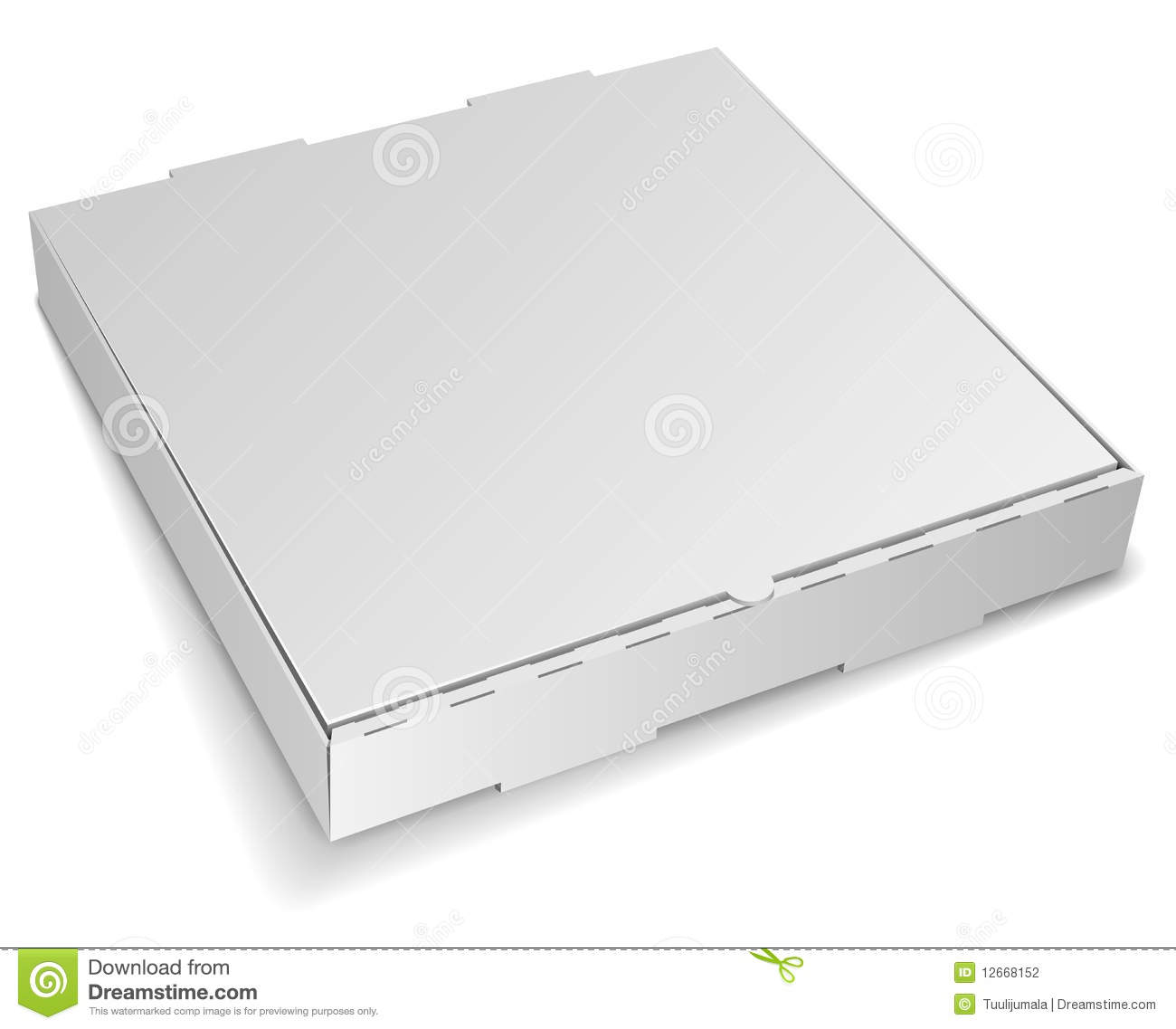 blank pizza box stock photography image 12668152