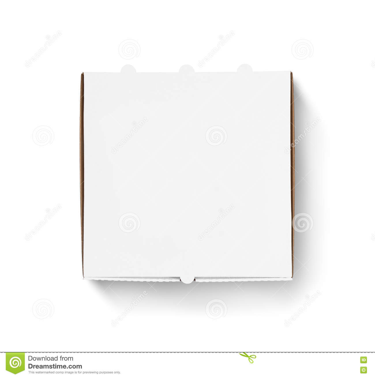 blank pizza box design mock up top view stock photo image 72184486