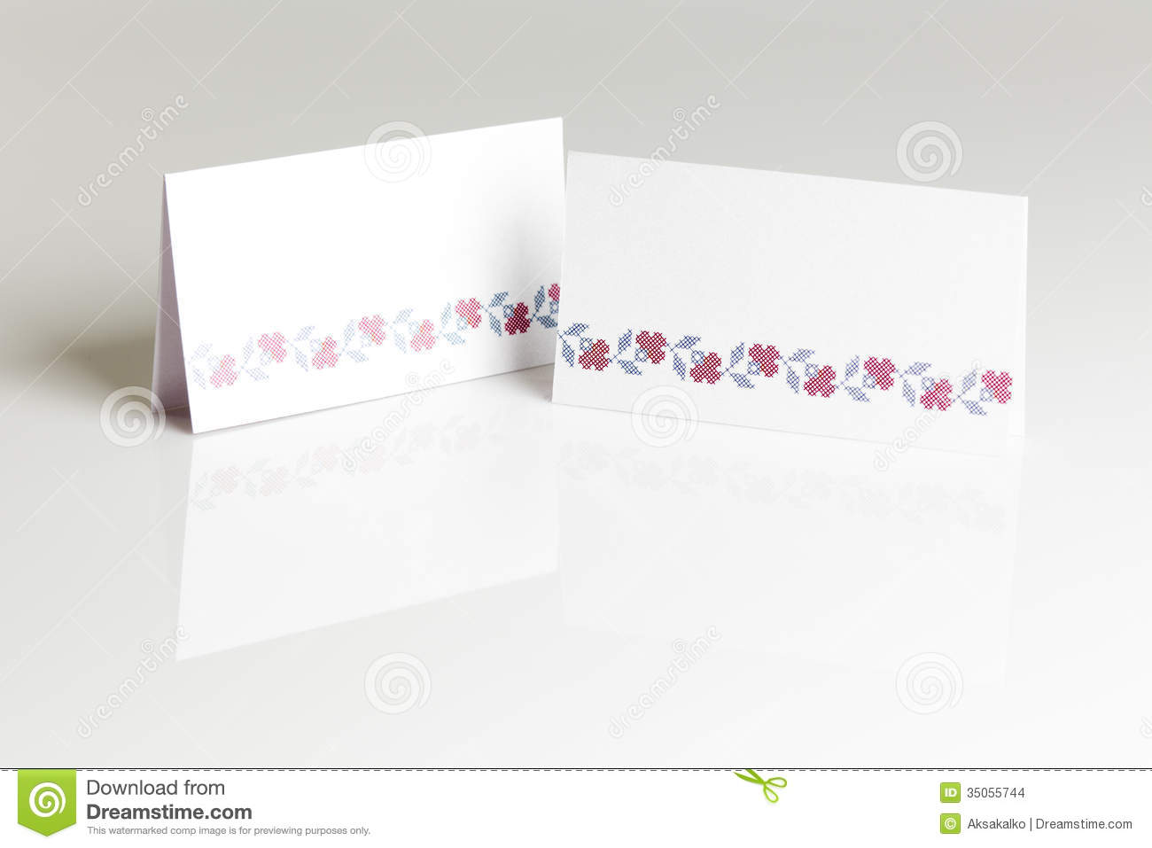 Blank Place Card For Wedding Table Stock Photos - Image: 36020793