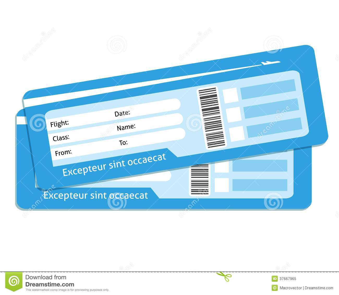 Blank Plane Tickets Royalty Free Stock Photo Image 37667965