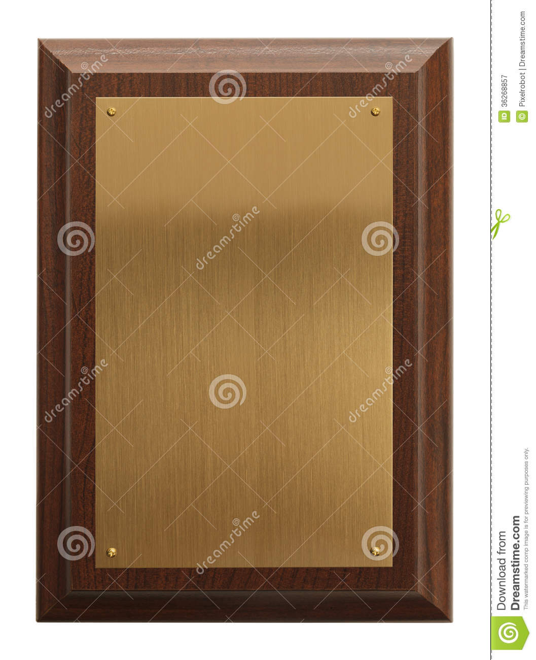 Blank Plaque Royalty Free Stock Photography Image 36268857