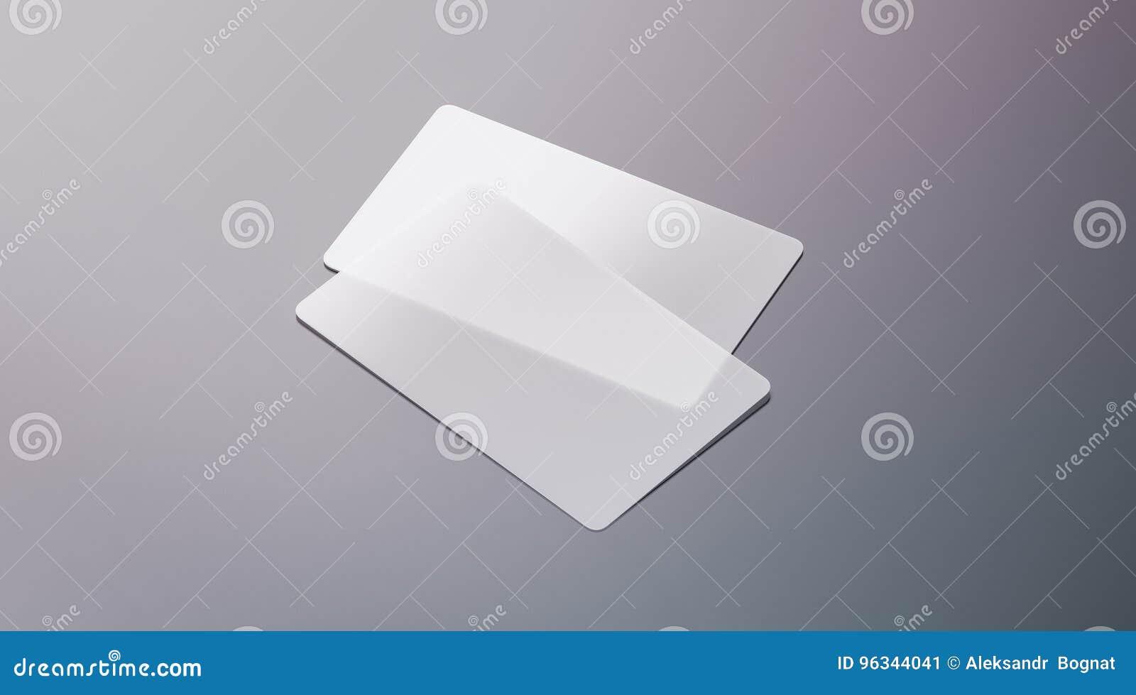 Blank Plastic Transparent Business Cards Mock Up Stock Image - Image ...
