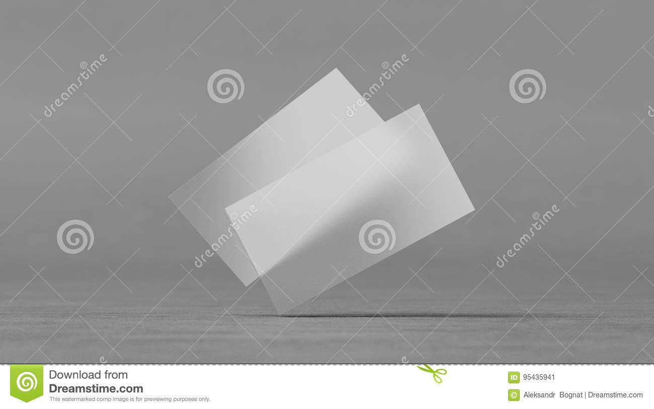 Download Blank Plastic Transparent Business Cards Mockups Stock Illustration