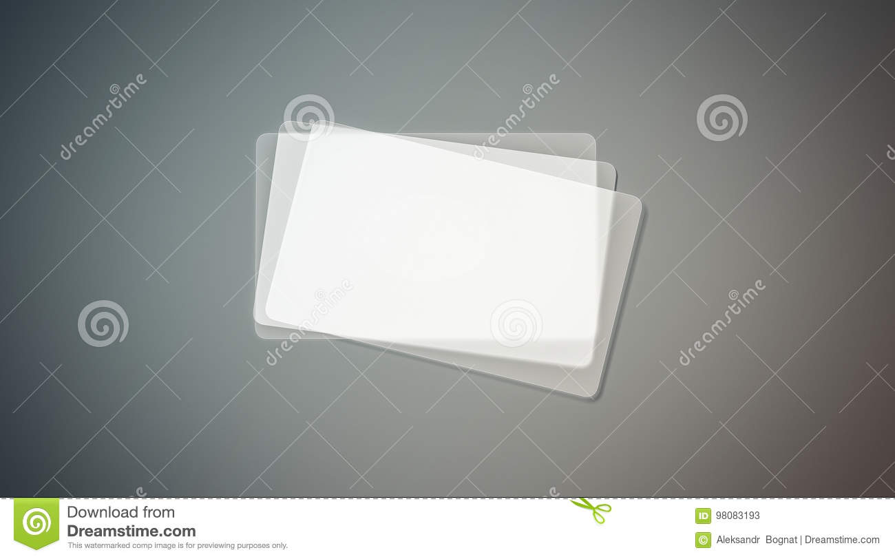 Blank plastic transparent business cards stack mock up stock image download comp reheart Image collections