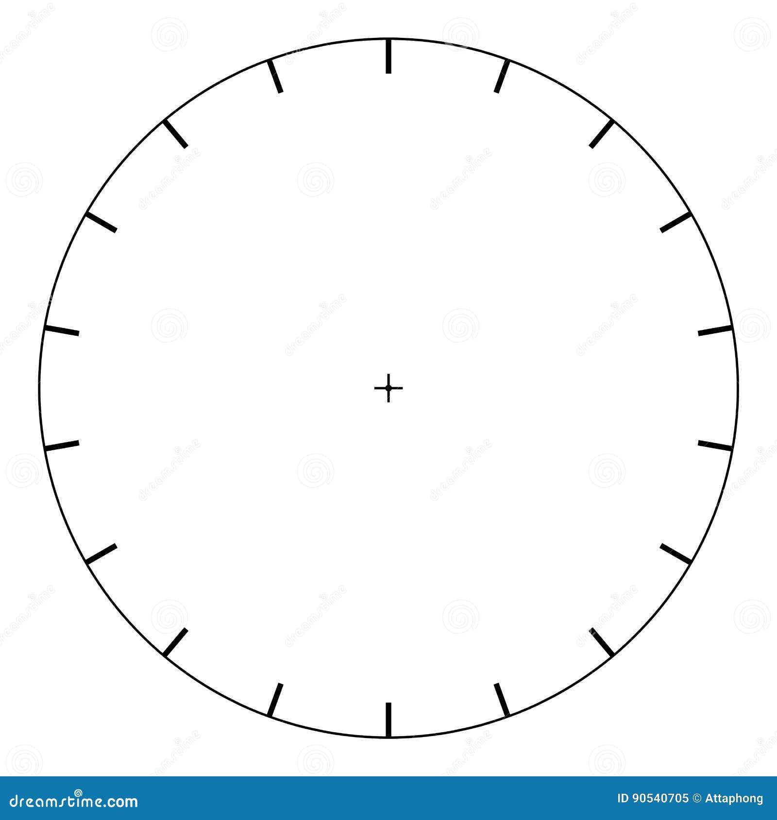 blank polar graph paper protractor pie chart vector stock vector
