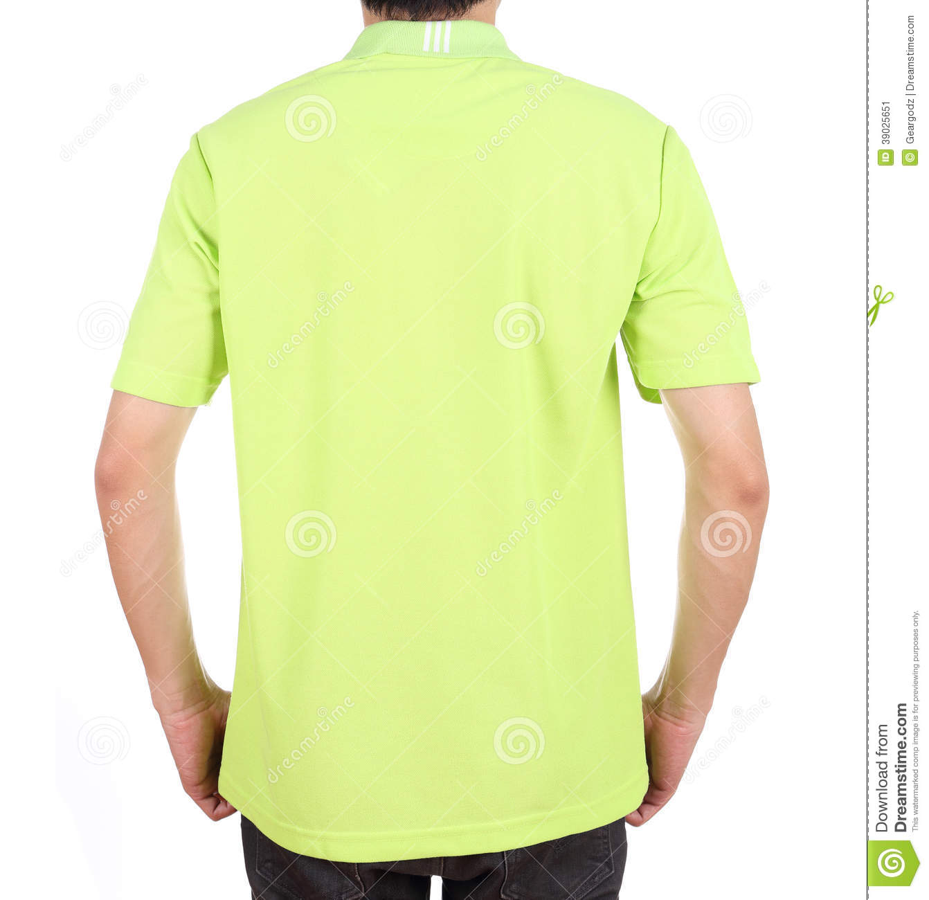 Blank Polo Shirt (back Side) On Man Stock Photo - Image ...