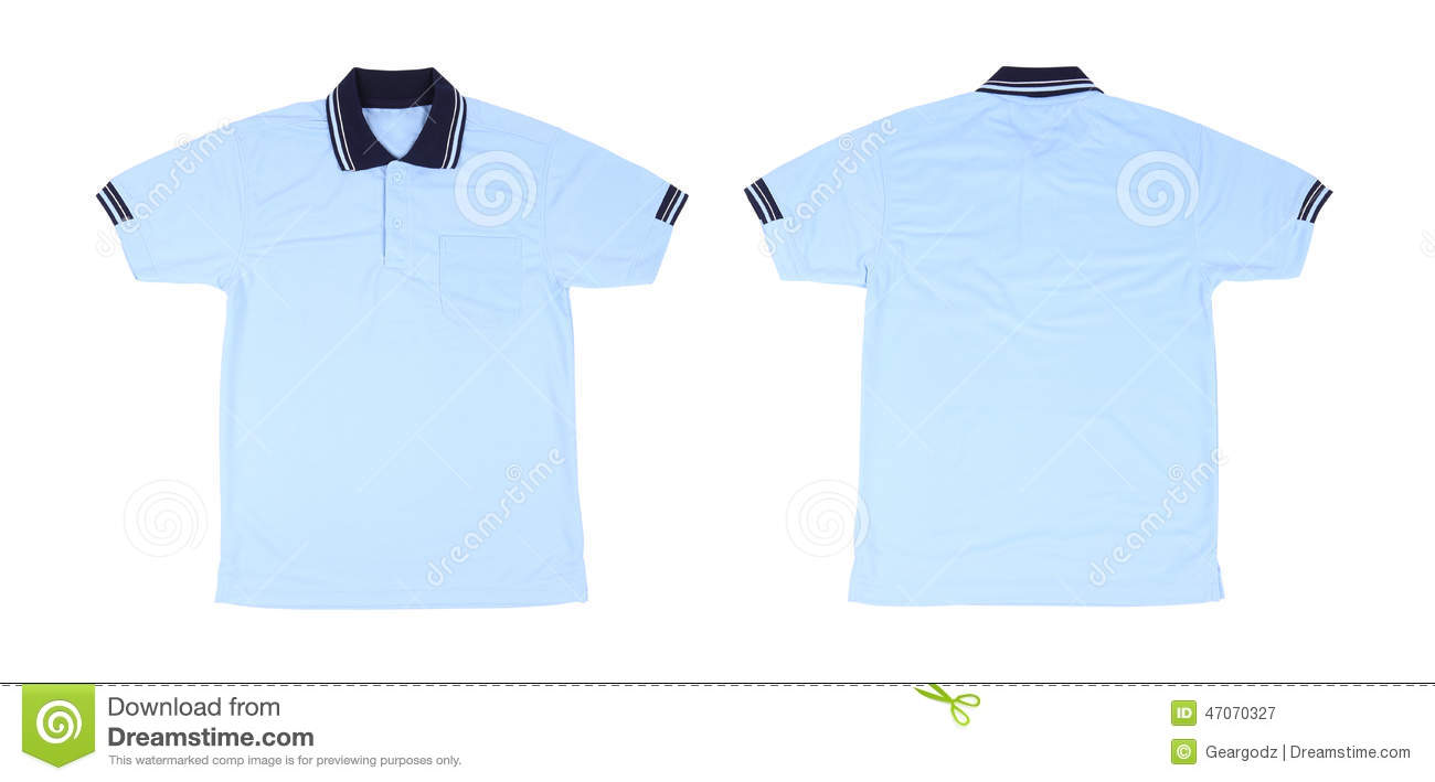 White t shirt front and back template - Blank Polo Shirt Set Front Back Royalty Free Stock Photography