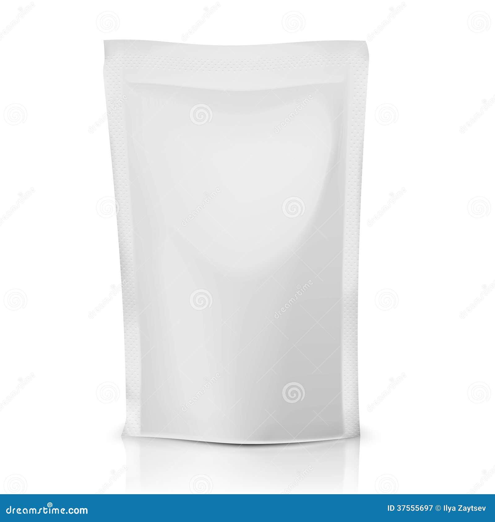 blank polythene bag package stock vector illustration of sachet sauce 37555697. Black Bedroom Furniture Sets. Home Design Ideas