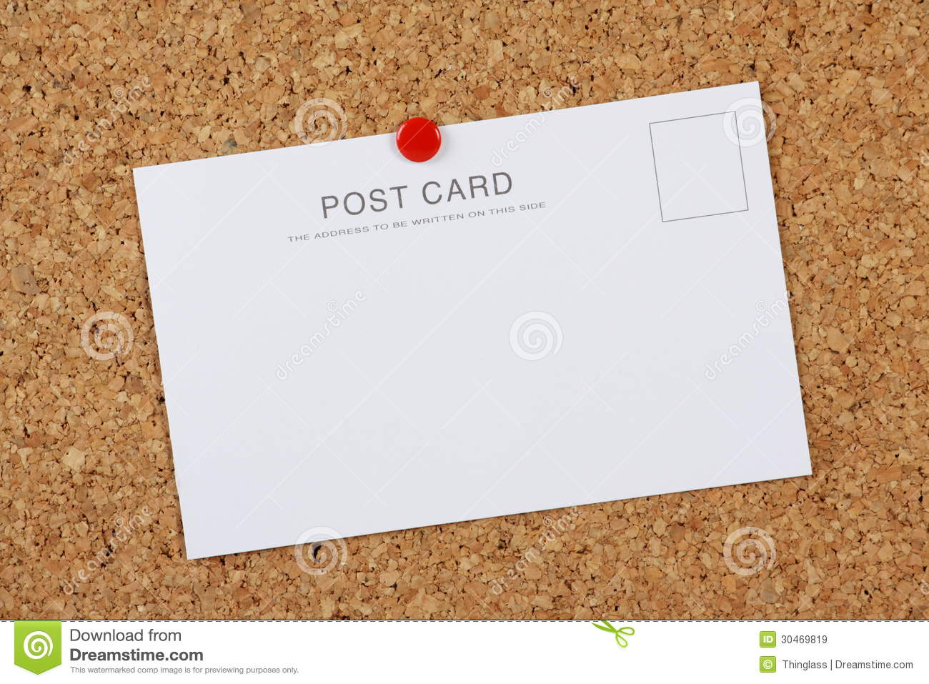 blank post card stock image image of card empty notice