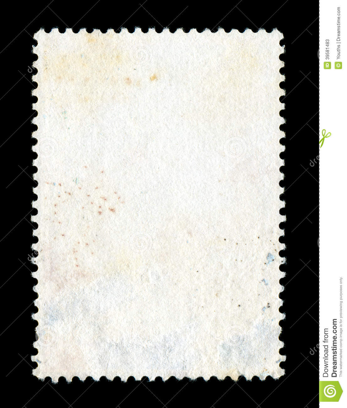 Blank Postage Stamp Background Stock Photo Image 39581483