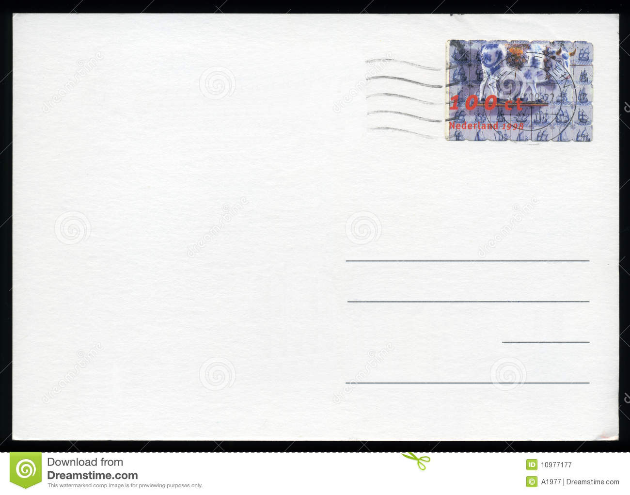 blank postcard stock image image of torn postage background