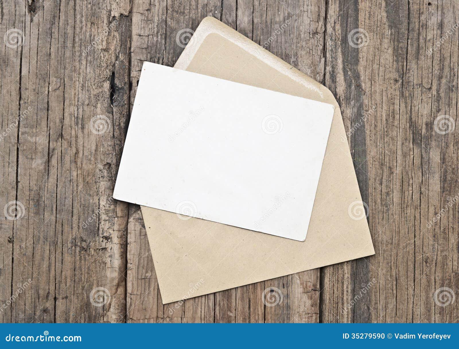 creating vintage postcard envelope