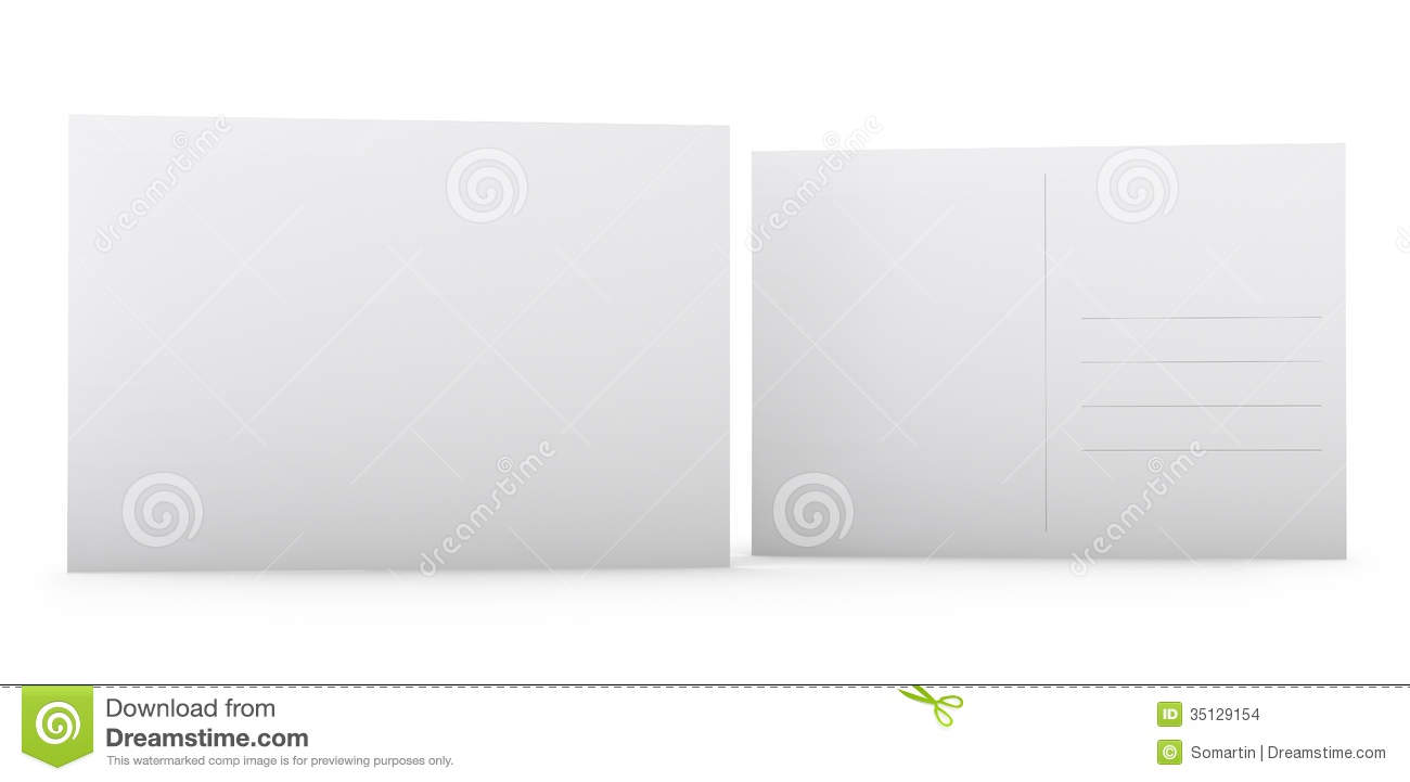 Blank Postcard Stock Photo Image Of Backside Space 35129154