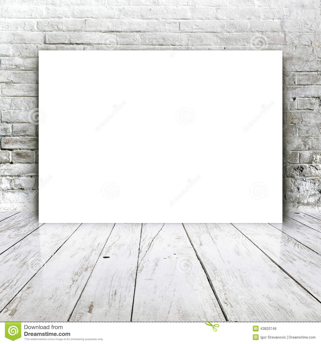 blank poster as copy space template for your design stock photo