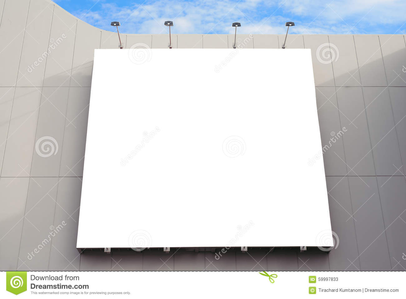 blank poster board wall with copy space for your text message in