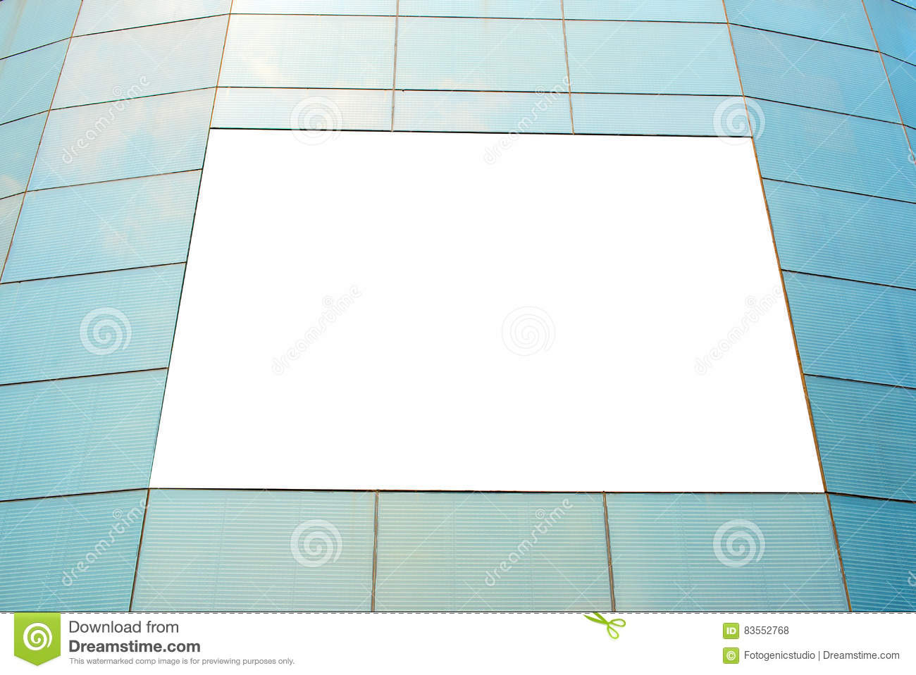 blank poster board wall in modern shopping mall stock photo image