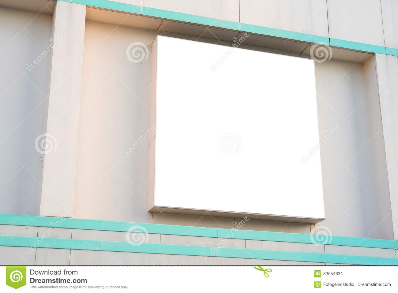 blank poster board wall in modern shopping mall stock image image