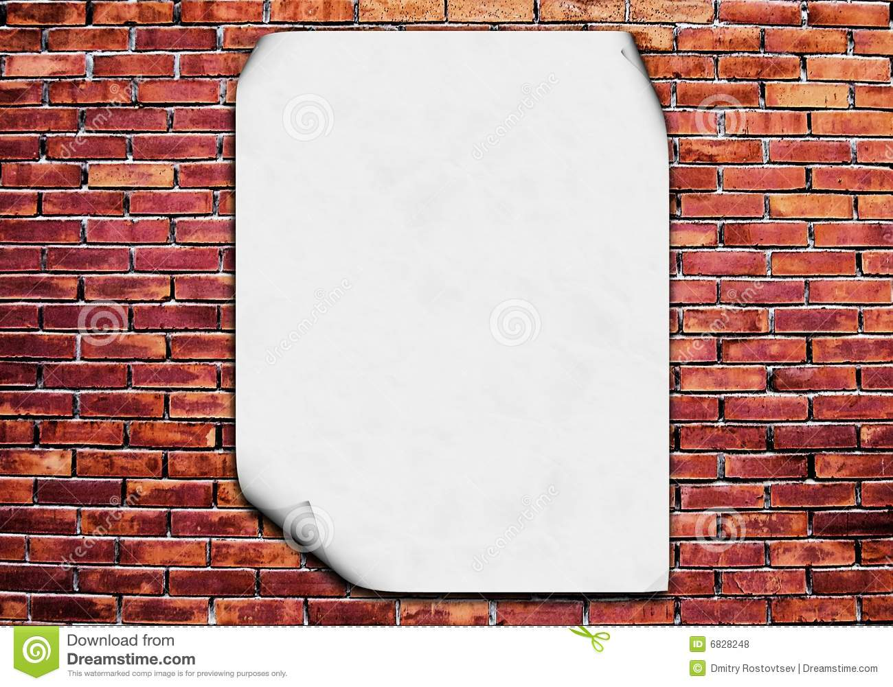Download Blank Poster On Brick Wall Stock Illustration Of Back
