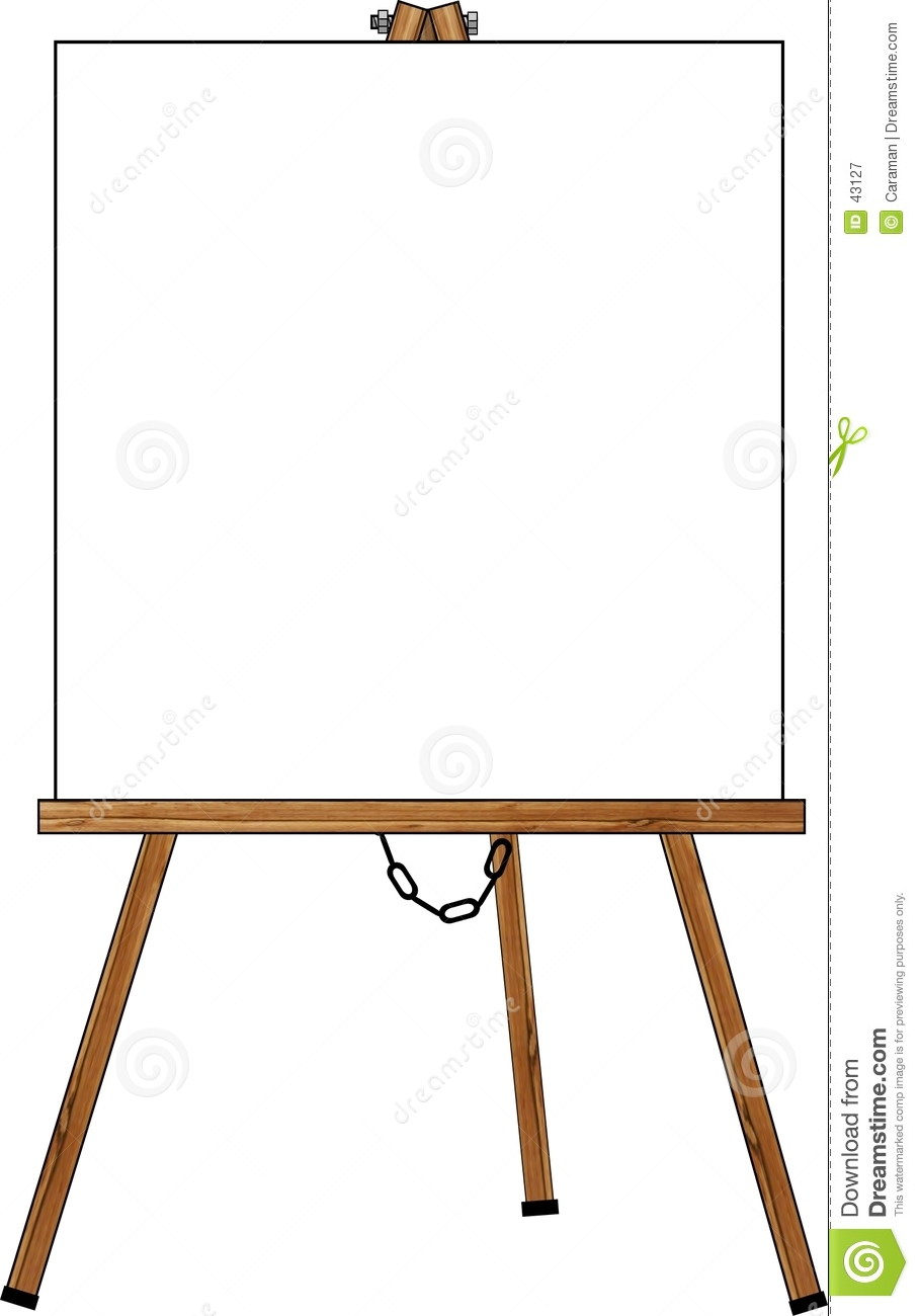 Blank Poster On An Easel Royalty Free Stock Photography - Image: 43127