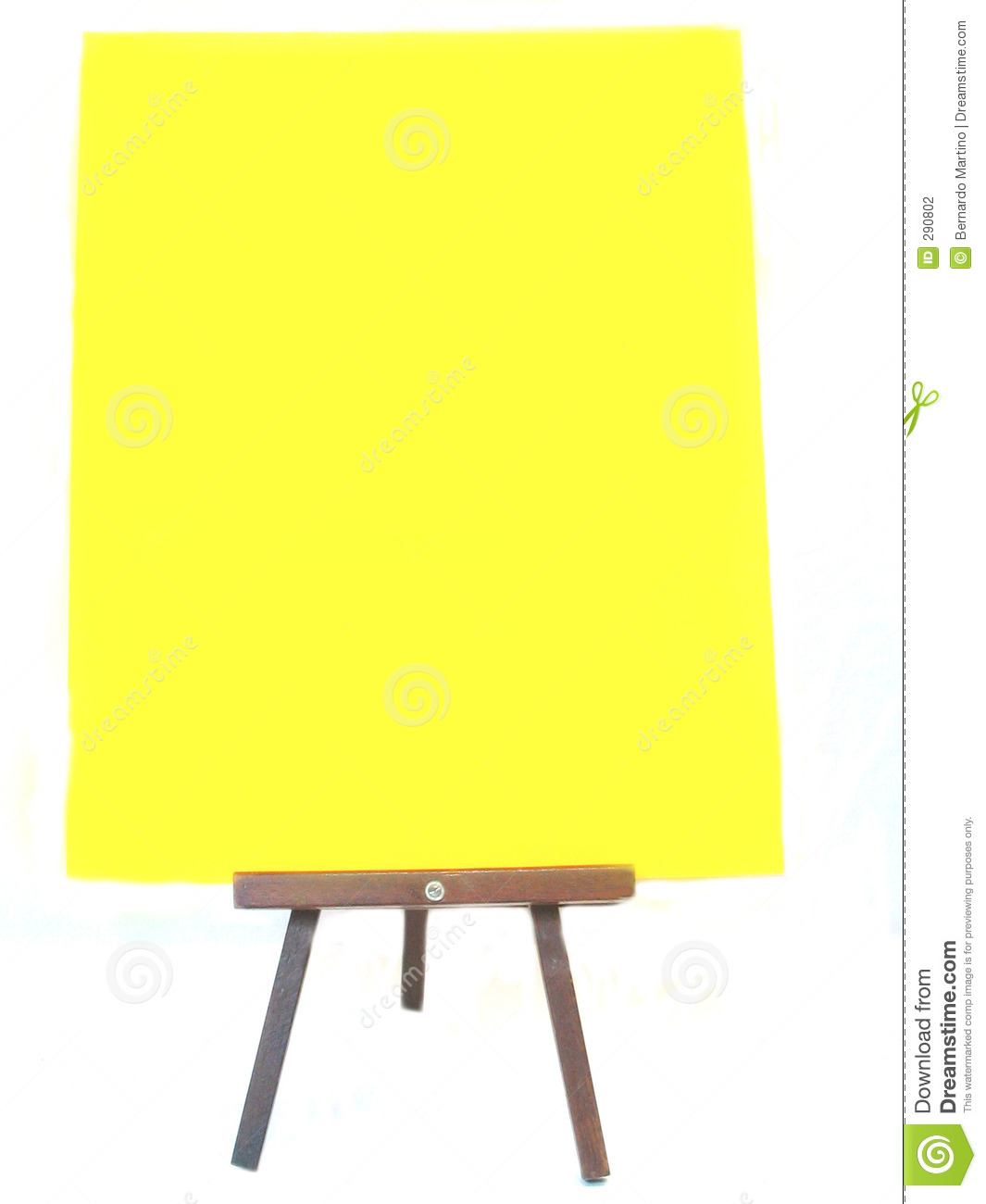 blank poster on a stand stock illustration illustration of