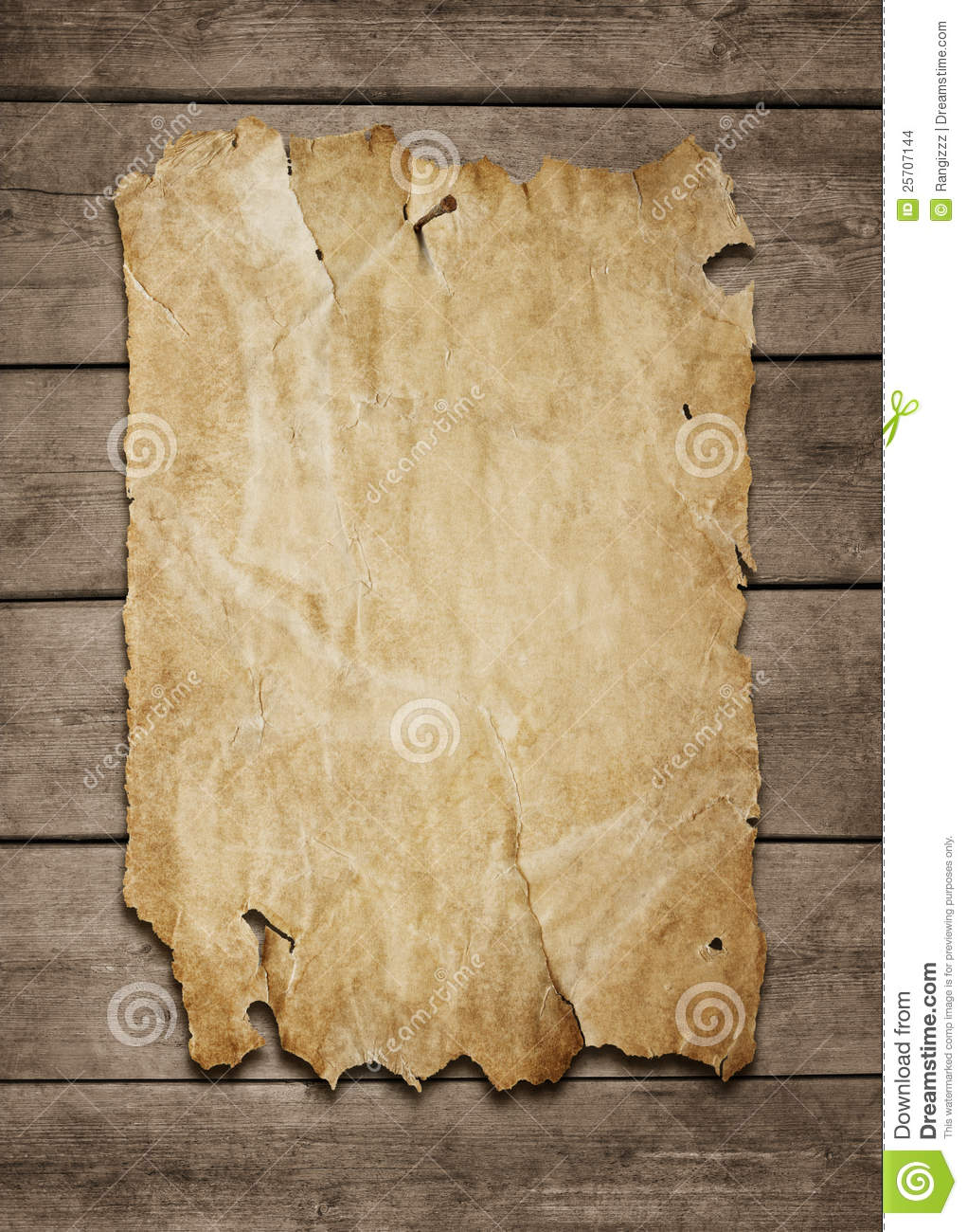 Blank Poster At Wooden Background Stock Images Image