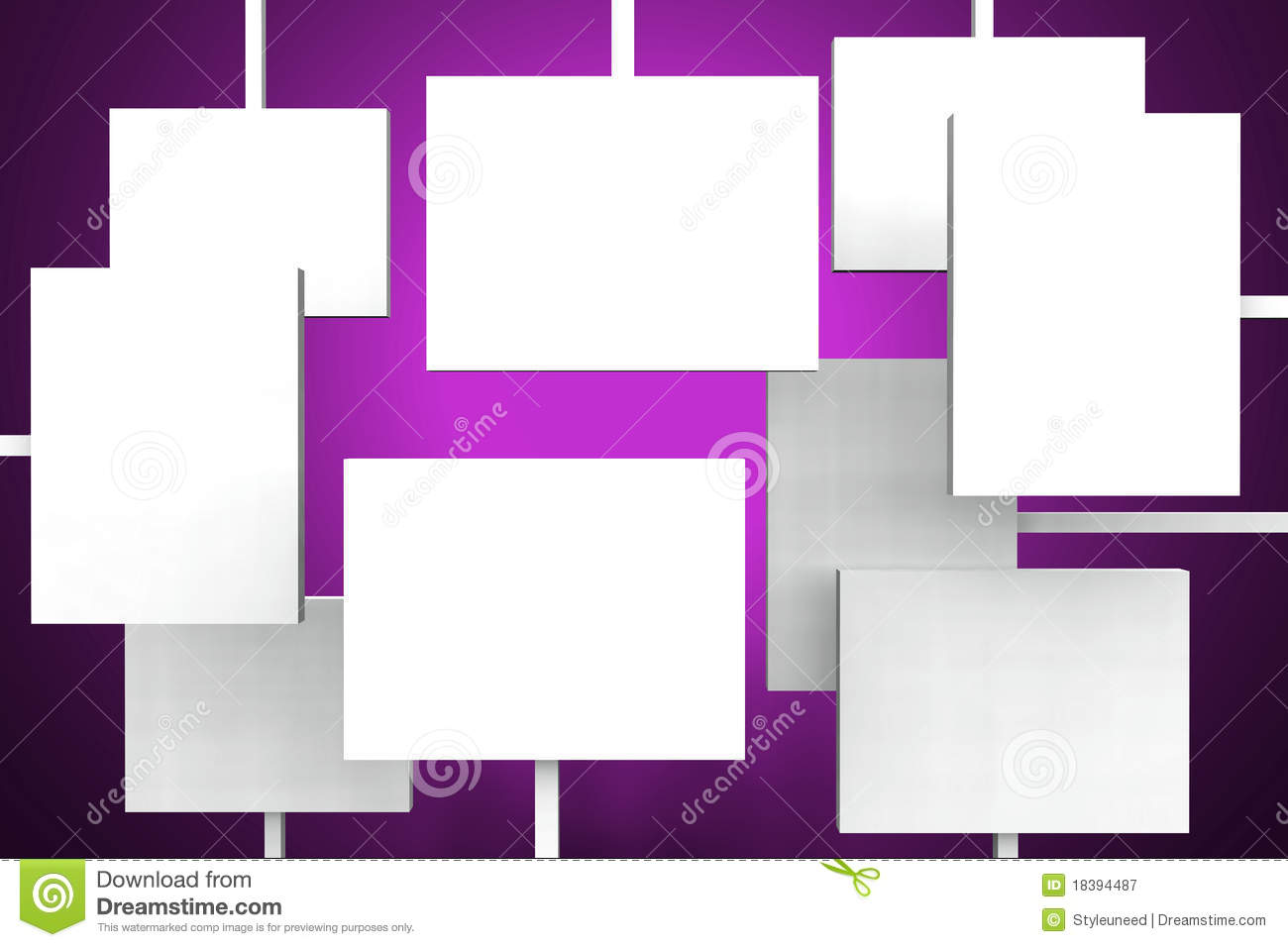 blank posters stock illustration illustration of blank 18394487