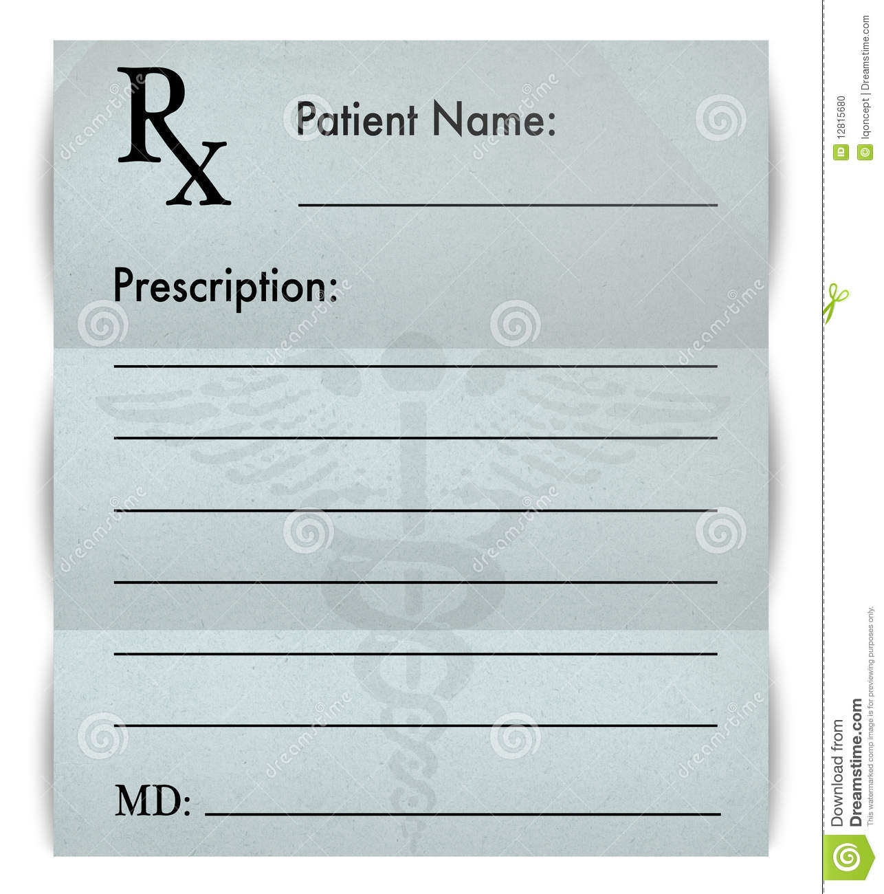 Blank Prescription Form Stock Illustration - Image: 61019317