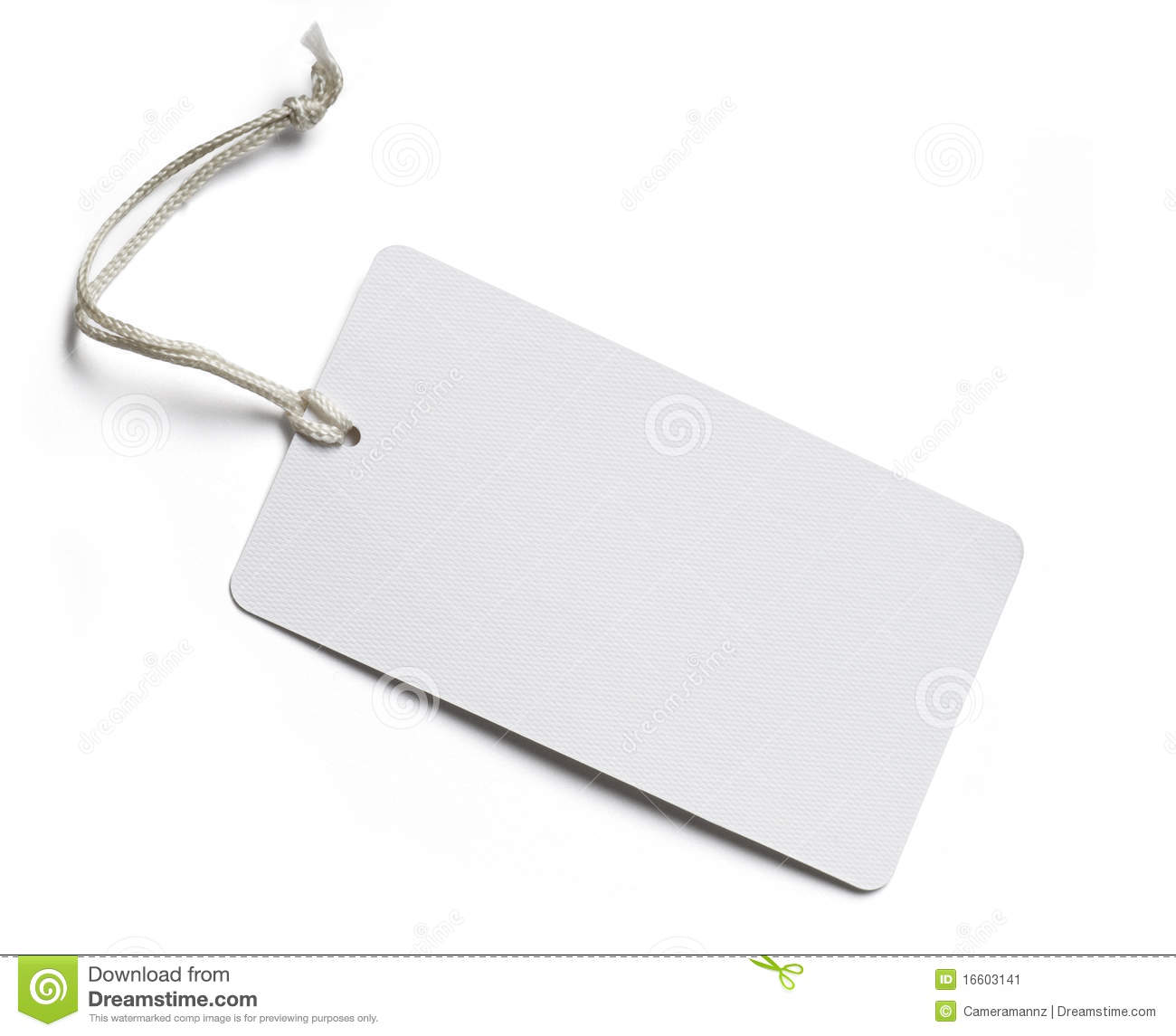 Blank Price Tag On White Stock Image Image 16603141