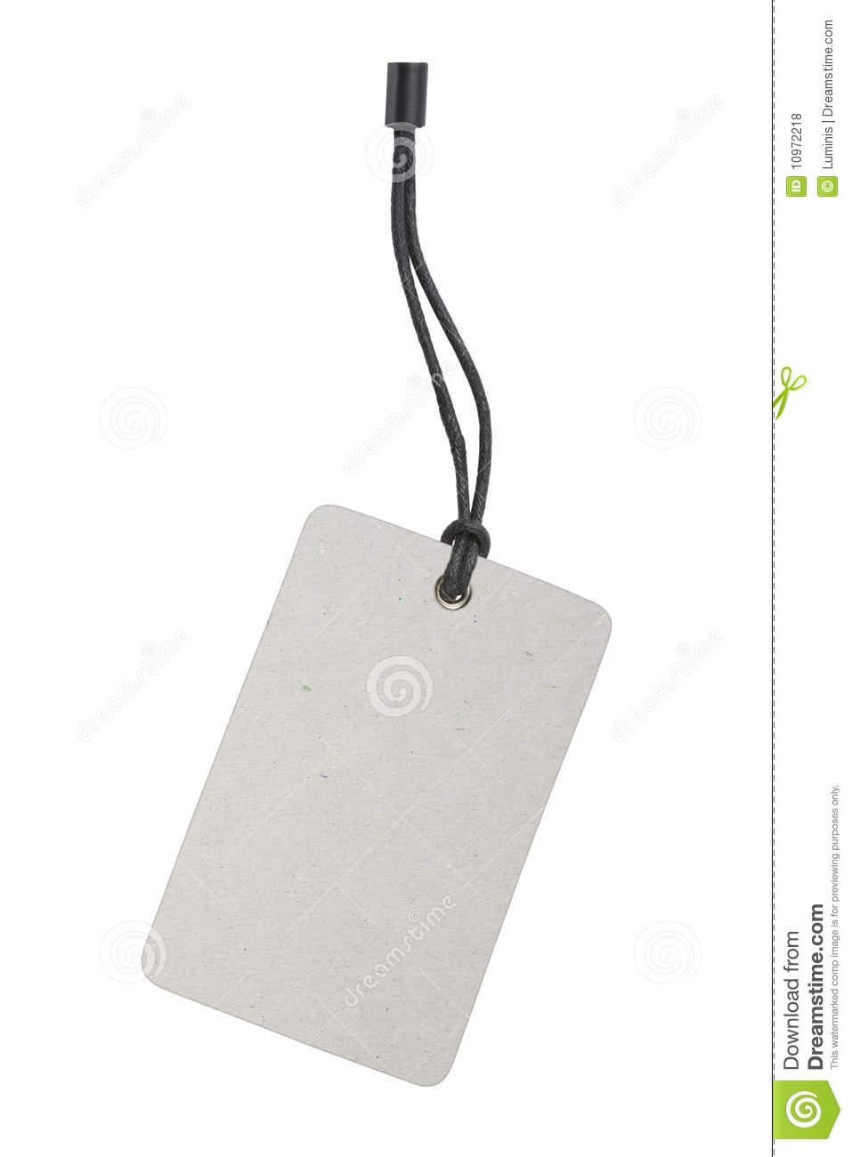 Blank Product Label Tag Royalty Free Stock Photos - Image: 10972218