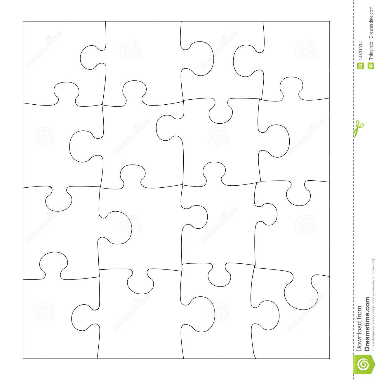 Blank Puzzle Stock Images - Image: 14531934