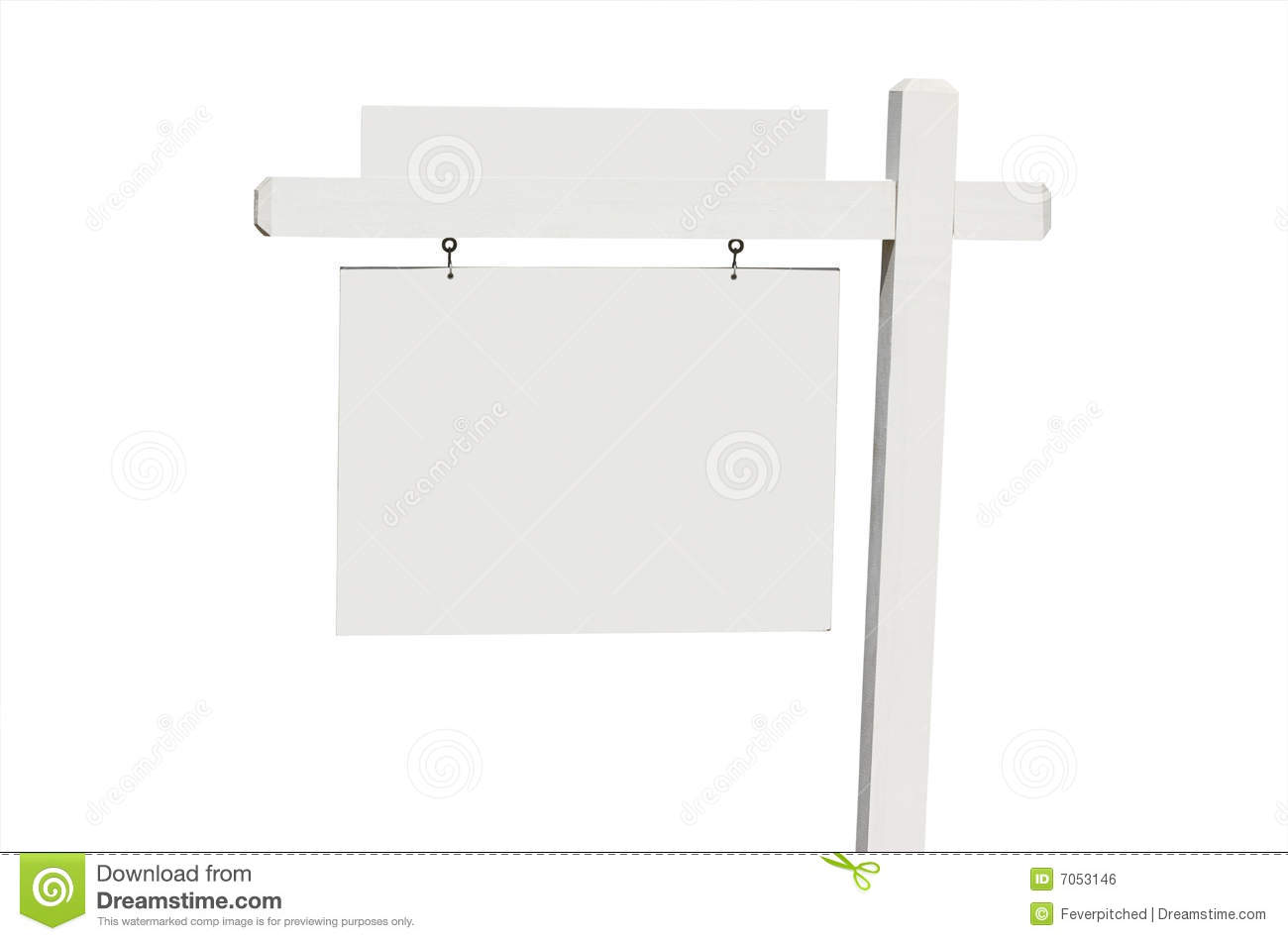 Blank Real Estate Sign Royalty Free Stock Image Image