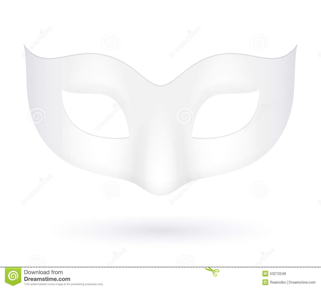 blank realistic carnival mask icon template stock vector
