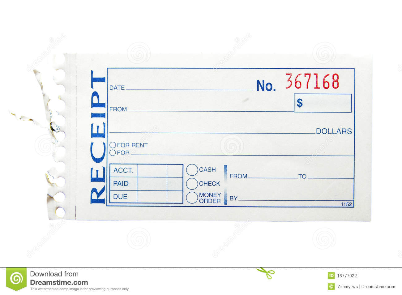 Blank Receipt Stock Photography Image 16777022