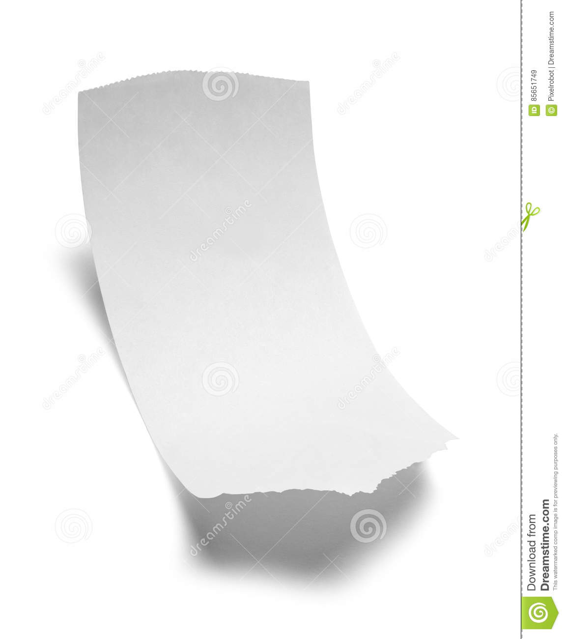 Blank Receipt stock image. Image of bill, expenses, consumerism ...