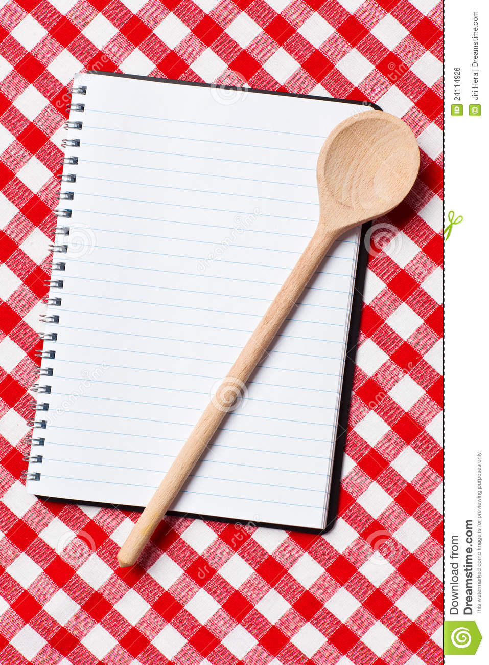 Blank Cookbook Cover
