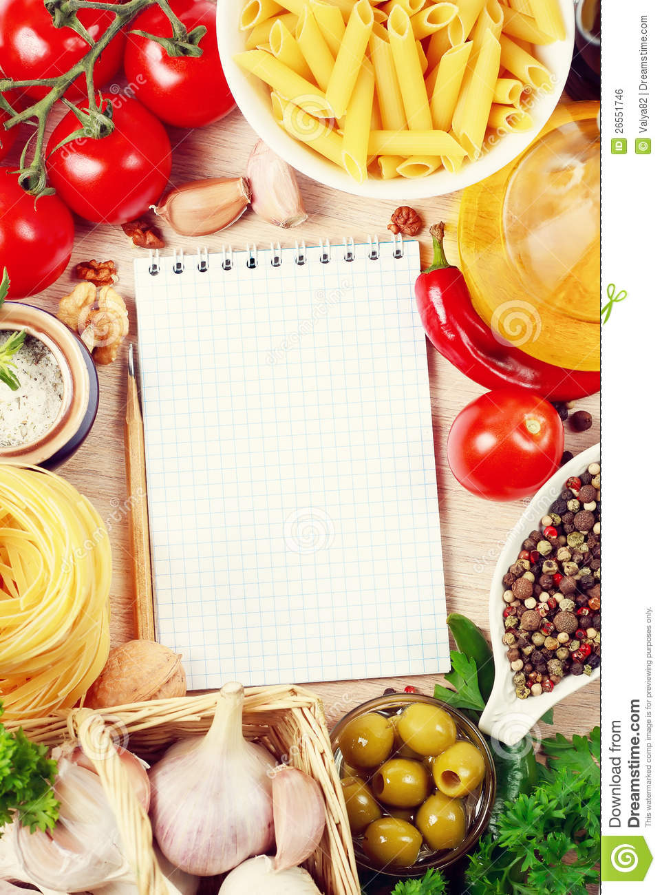 Cookbook Covers Free Templates : Blank recipe book stock photo image of assorted handmade