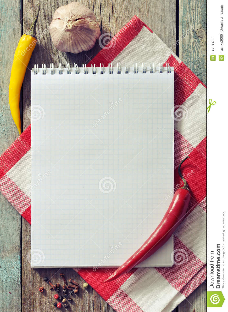 Blank Recipe Book Royalty Free Stock Image - Image: 34734406