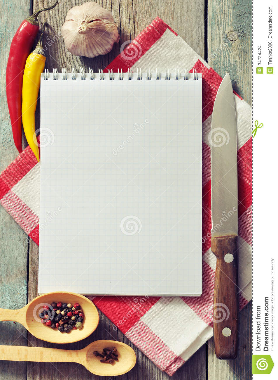 Blank Recipe Book Stock Images Image 34734424