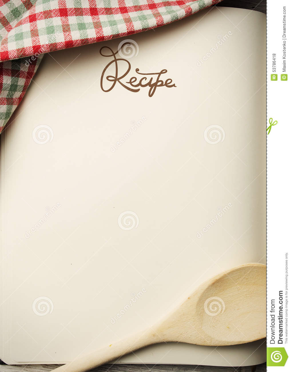 Blank Recipe Book Stock Photo Image Of Baker Kitchen