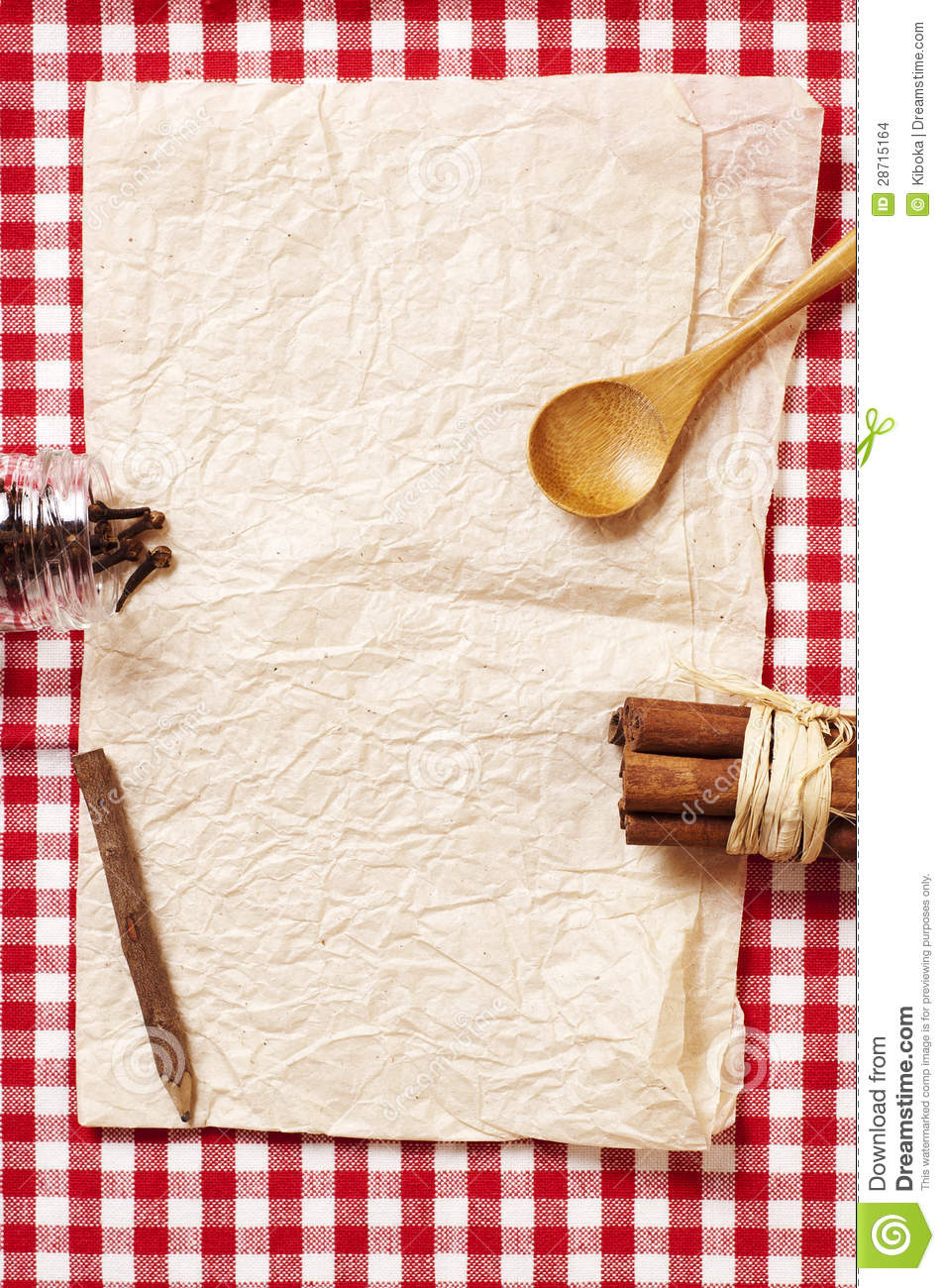 Blank Recipe Card Stock Images Image 28715164